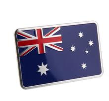High Quality Aluminum Alloy Australian flag Badge Emblem Decal Sticker car sticker [80x50mm, 50x50mm]