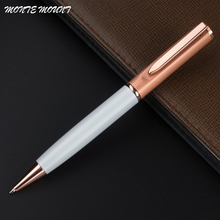High quality MONTE MOUNT white and rose gold financial Ballpoint Pen Special pen Multi-color with gift school office supplies(China)