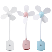 Mini Portable USB Rechargeable Touch Switch Electric Fan Table Desk Clip Fans for Home 5V 1.5W Air Conditioner Cooler Adjustable
