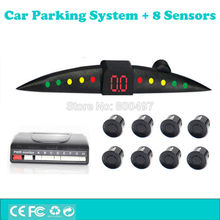 Car Parking Assistance System with 8 Parking Sensors Auto Backup Reverse and Front Radar System Alarm Kit with Colorful Display(China)