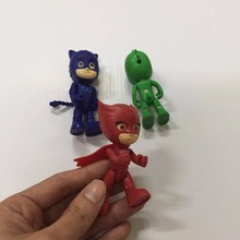 3pcs/set 8.5cm tall Pj Characters Mask Catboy Owlette Gekko Cloak Action Figure Toys Boy Best Gift For Children Free Shipping