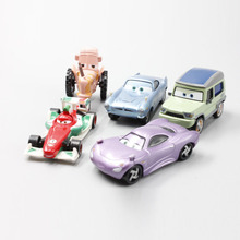 Pixar Car Movie 1:55 Metal Diecast Sally Axelrod Francesco Bernoulli Tipping Tractor Finn McMissile 5pcs Set Toy Cars New Loose