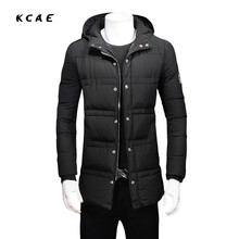 2017 Hooded Outer Pocket Zipper Design Men Jacket Autumn And Winter New Arrival Casual Fashion Parka Solid Cotton Coat