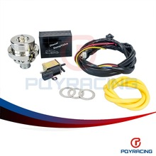 PQY RACING- ElectrIcal Diesel (25MM) Dual Piston SILVER Blow off valve DV Turbo 1.8T Diesel dump valve PQY5011W+5740S