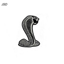 Hot (Silver) 3D Metal Chrome Sticker Car Grille turning logo Cobra emblem for Ford Shelby Mustang Carros Car Styling(China)