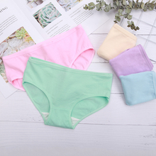 Buy 5Pcs/lot Women Panties Soft Cotton Underwear Low Waist Girls Sexy Solid Intimate Plus Size XXL Briefs Ladies Seamless Underpants