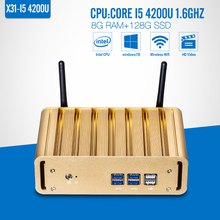 The Highest Ratio Of Mini Computer I5 4200U 8G RAM+128G SSD+WIFI All In One Desktop Pc Wireless Thin Client Home Computer