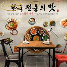 Custom photo wallpaper 3D Korean food background wall fried chicken barbecue shop restaurant wallpaper mural(China)