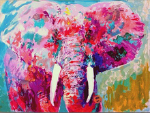 Gold Supplier Supply High Quality Pink Elephant Oil Painting On Canvas Handmade Canvas Wall Decoration For Living Room Artwork(China)