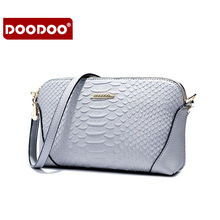 DOODOO Fashion ladies Bag Bandbag ladies Party Wallet Casual Shoulder Genuine Leather Famous Brand shoulder Bag Small Square Bag(China)