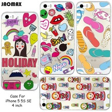 Cute Watercolor Russian Nesting Dolls Painting Phone Case For iPhone 5 / 5S / SE Transparent Clear Soft Silicone Phone Cover(China)