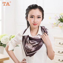 TA 2017 new star big scarf silk satin silk scarf high grade wild lady scarf