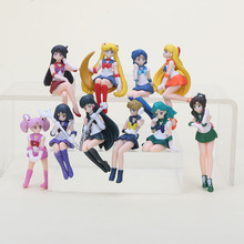 5pcs/set Anime Sailor Moon Action Figures Cup Table Decoration PVC Figure Model Toys for gifts