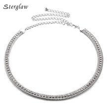 2017 Rushed Real Rhinestone Belt For Women Gold&silver Designer Skinny Metal Waist Chain Accessories F049 Ceinture Mariage