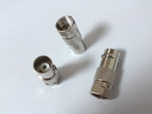 4pcs F type Female to BNC Male RF Coax Adapter CCTV RG6 RG59 connector