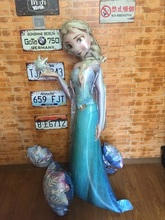 144*88cm Elsa Princess Foil Balloons stereo Sculpt Model Shape Balloon Birthday Party Decoration air globos Elsa Balao