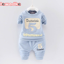 Baby Boys Girls Clothing Set 5 Pattern Children Set Kids Cartoon Clothes Casual Suits(China)