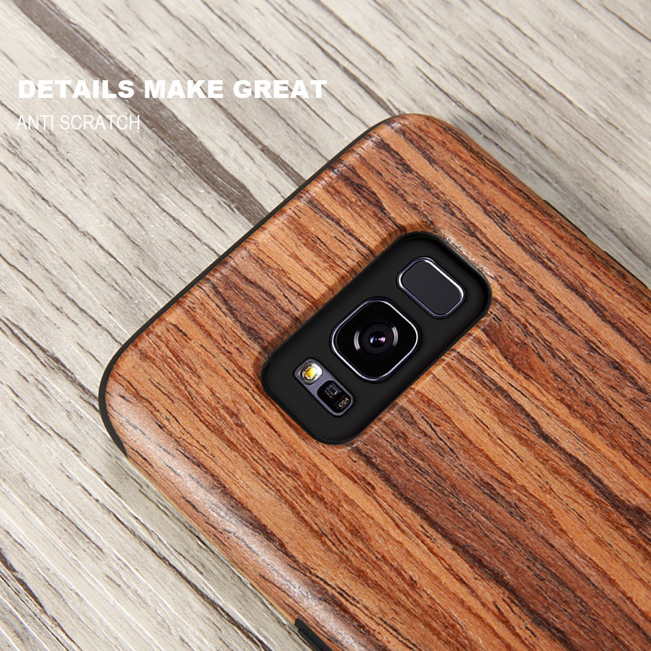 wood pattern soft tpu case for samsung s8 s8 plus (7)