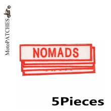 MotoPATCHES 5Pieces/Lot NOMADS Front Patches Custom Embroidery Back Iron On Patches For Jackets DIY