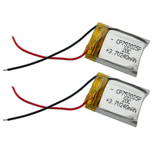 2pcs/lot Li-Polymer Lipo Battery 3.7v 240mAh 20C For Syma S107G S105G WLtoys S977 V398 V319 V388 RC Helicopter Bateria(China)