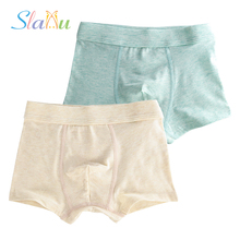 Buy 2-Pack Pure Color Kids Shorts Panties Boys Underwear Soft Cotton Baby Boxer Children Teenager Underwear Underpants 2-16T for $5.20 in AliExpress store