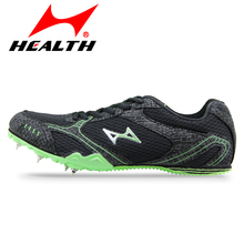 HEALTH sprint spikes men's running shoes track professional sport shoes men athletic woman sneakers student nail for men spike