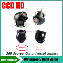 360 degree CCD HD Car front left right rear view camera parking system reverse backup camera night vision front view camera