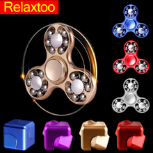 Spinning Top to 7min Magic Cube Spinners Metal Fidget Spinner handspinner Toys for Children Kids Adult Anti Stress Figet Spiner(China)