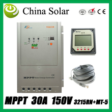 Free Shipping MPPT  Solar  charge controller,12/24V auto work 30A,Max.PV open circuit voltage:150VDC