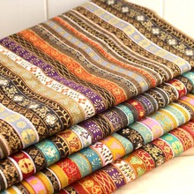 ethnic vintage apparel sewing print material fabrics for patchwork cotton knit textiles cotton linen fabric meter cloth tissu