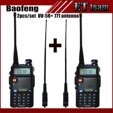 2 pcs/set Baofeng UV-5R Portable Radio Walkie Talkie UV 5R UV5R two way radio station Transmitter with Female soft antenna 771