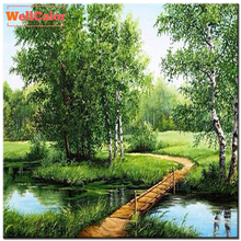 RUBOS landscape nature trees 5d diy diamond painting cross stitch full beads diamond embroidery mosaic pattern new pictures sale