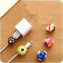 Cute Kawaii Lovely Cartoon Cable Protector Pretty USB Cable Winder Cover Case Shell For IPhone 5 5s 6 6s 7 7s plus cable Protect(China)