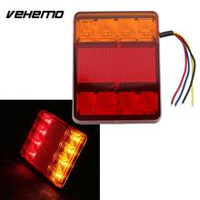 Waterproof 8 LED Red Yellow Rear Tail Warning Light 12V for Trailer Boat Car Vehicle Light Car Styling
