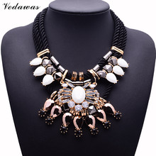 Buy XG278 2017 New Hot Fashion Necklaces & Pendants Multi-layers Rope Chain Necklace Crystal Statement Necklace Tassel Necklace for $5.99 in AliExpress store