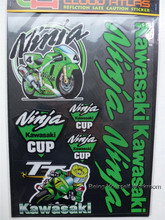 1sheet  Isle of man TT sticker reflective ninja cup decals motorcycle racing stickers kit set car helmets for Kawasaki