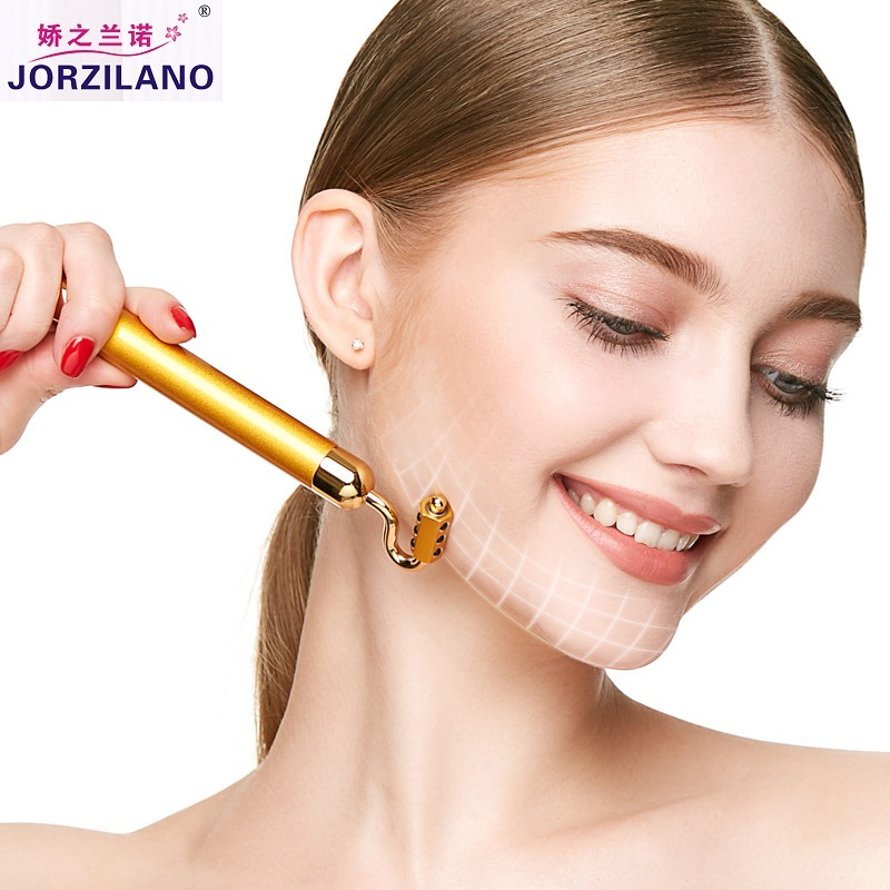 KB177 Japanese Quality 24K Golden Germanium Beauty Instrument Beauty Bar Skin Tighten Tool Face Lift Tools Body Massage Tools<br>