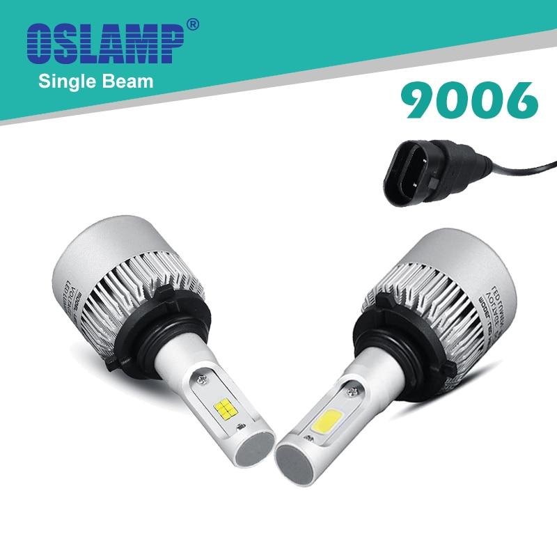 Oslamp CSP Chips/COB 9006/HB4 Single Beam Led Car Headlight Bulbs with Fan 72W/pair Led Auto Headlight Kits SUV Fog Lamps 6500K<br><br>Aliexpress