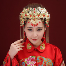 Bride Headdress Wedding Hair Clips Chinese Style Coronet Hairpin Metal Hairband Women Hair Accessories Free Shipping(China)