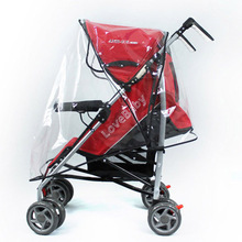 Universal Strollers Pushchairs Waterproof Dust Rain Cover Pushchairs Baby Carriage Windshield Universal PU Raincover For Prams