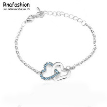 Heart to Heart selling simple fashion crystal bracelet - tie the knot 048(China)