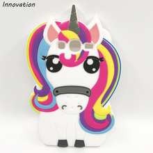 3D Cartoon Unicorn Silicone Soft Phone Case Cover For Samsung Galaxy Grand Duos Neo Plus S3 S5 Neo S6 S7 Edge A5 J3 J5 2016 Capa(China)