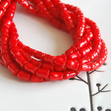 red natural coral loose beads flower tulip shape diy materials bracelet necklace earrings making jewelry craft findings