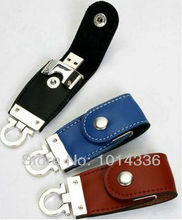 leather metal car key USB Flash Drive Memory Card Stick Thumb/Car/Pendrive Key U Disk/creative Gift 2GB 4GB 8GB 16GB 32GB