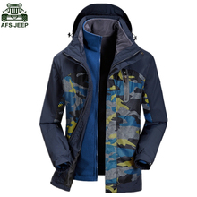 AFS JEEP Brand Fleece Jacket Outdoor Camping Ski Climbing Hiking Clothing Hunting Clothes Waterproof Windproof Camouflage Winter