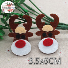6CM 10pcs Non-woven patches Christmas reindeer Felt Appliques for clothes Sewing Supplies diy craft ornament