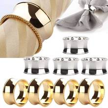 4pcs Stainless Steel Napkin Rings for Dinners Parties Weddings Hotel Supplies Diameter 4.5cm J2Y(China)