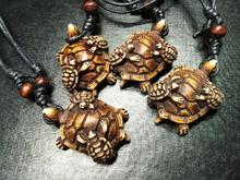 FREE SHIPPING 4 PCS Newest tortoise Necklace turtle totem magic jewelry