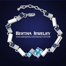 New Arrivals Chain Link Bracelet Pulseras For Women Crystals from Swarovski Cristal Bijoux Fine Jewelry  Dropshipping