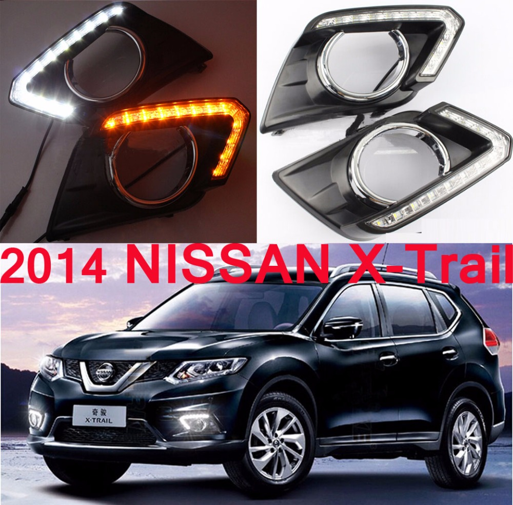 2014~2016 X-Trail daytime light,Qashqai,Free ship!LED,X-Trail fog light,2ps/set,Teana;Sylphy;R50,Sunny;X-Trail<br>